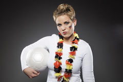 Сторонник Германия болельщика футбола Стоковые Изображения RF