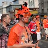 Сторонницы футбольной команды Голландии Стоковые Изображения