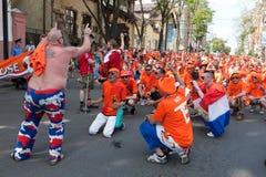 Сторонницы футбольной команды Голландии Стоковое Изображение RF