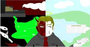 2 стороны бизнесмена Стоковые Изображения RF