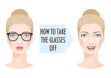 2 стороны женщины и проблема плохого зрения Стоковая Фотография RF