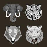Стороны дикого животного иллюстрация вектора