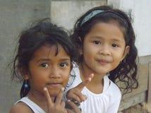 Стороны молодых индонезийских девушек Стоковые Изображения