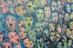 Стороны на Берлинской стене Стоковая Фотография RF