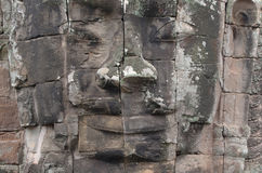 Стороны стародедовского виска Bayon на Angkor Wat Стоковые Изображения