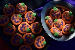 Стороны фонарика Джека o печений хеллоуина красочные Стоковое Изображение RF