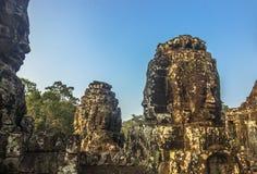Стороны Bayon, Камбоджи стоковое фото
