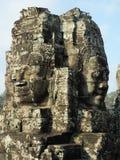 Стороны tample Bayon Ankor Wat Камбоджа Стоковая Фотография RF