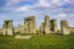 Стоунхендж, старый доисторический каменный памятник стоковые изображения rf