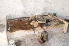 Стоунхендж - комната в неолитическом доме стоковое фото rf