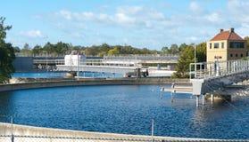 сточные воды обработки bassin Стоковые Фотографии RF