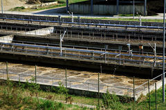 сточные воды обработки Стоковая Фотография RF