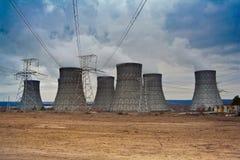 Стояк водяного охлаждения атомной электростанции Стоковое Фото