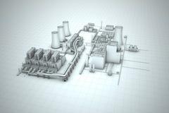 Стояк водяного охлаждения атомной электростанции Стоковое Изображение