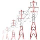 Стояк водяного охлаждения вектора электростанции Конкретная башня электрической станции тепловой мощности иллюстрация вектора