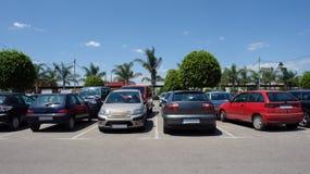 стоянка автомобилей автомобиля Стоковое фото RF