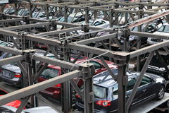 стоянка автомобилей гаража Стоковое Фото