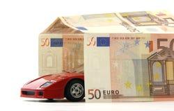 стоянка автомобилей евро Стоковое Изображение RF
