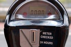 стоянка автомобилей метра Стоковая Фотография
