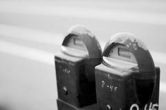 стоянка автомобилей метра Стоковые Фотографии RF