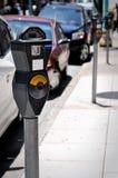 стоянка автомобилей метра Стоковые Фото