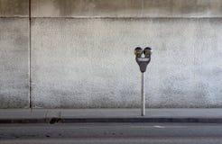 стоянка автомобилей метра Стоковое Изображение