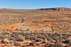 стоянка автомобилей серии пустыни Стоковое Фото