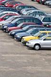 стоянка автомобилей серии Стоковые Изображения