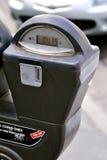 стоянка автомобилей цифрового метра монетки Стоковое Изображение