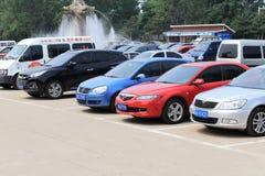 стоянка автомобилей серии напольная Стоковые Изображения