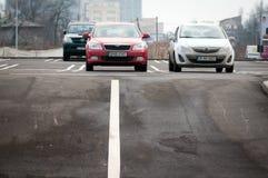 стоянка автомобилей серии самомоднейшая Стоковая Фотография
