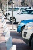 стоянка автомобилей серии самомоднейшая Стоковое Изображение RF