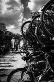 Стоянка велосипеда стоковое фото