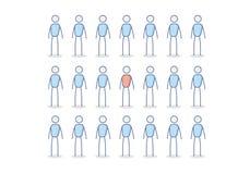 Стоять вне от концепции толпы Иллюстрация вектора в eps10 иллюстрация штока