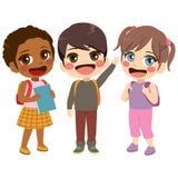 Стоять студентов детей Стоковое фото RF