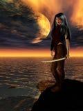 стоящая женщина Стоковые Изображения RF