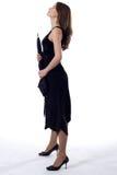 Стоящая повелительница с зонтиком Стоковые Изображения