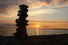 Стоящие камни в Menai Стоковая Фотография