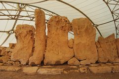 Стоящие камни Hagar Qim Стоковое Фото