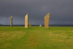 стоящие камни stenness Стоковое Изображение RF