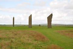 стоящие камни stenness Стоковые Изображения RF