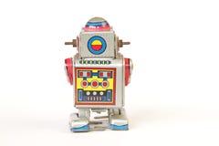 стоящий винтажный робот олова, задний взгляд без ключа Стоковые Фото