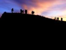 Стоящий заход солнца Стоковое фото RF