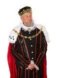 Стоящий изолированный король Стоковая Фотография