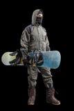 Стоящий изолированный snowboarder Стоковая Фотография