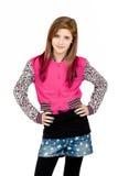 Стоящий портрет моды молодой красивой девушки Стоковые Изображения RF