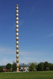 Столбец безграничности Constantin Brancusi, Targu Jiu, Румынии Стоковая Фотография