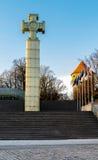 Столбец победы войны за независимость в Таллине, Эстонии Стоковые Изображения