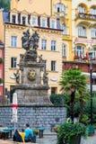 Столбец чумы в Karlovy меняет в лете Стоковые Фотографии RF