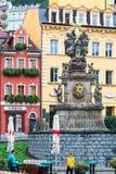Столбец чумы в Karlovy меняет в лете Стоковое Изображение